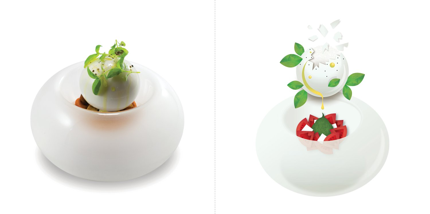 Sublime food design piatti Andrea Aprea